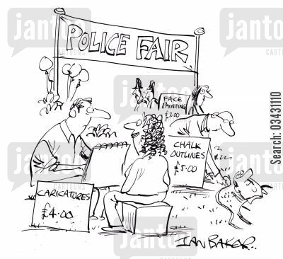 constables cartoon humor: Police Fair.