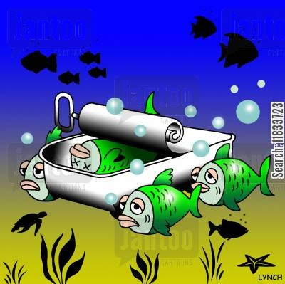 sardine cartoon humor: Sardine funeral