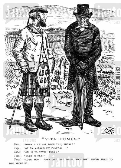 moors cartoon humor: Vita Fumus.