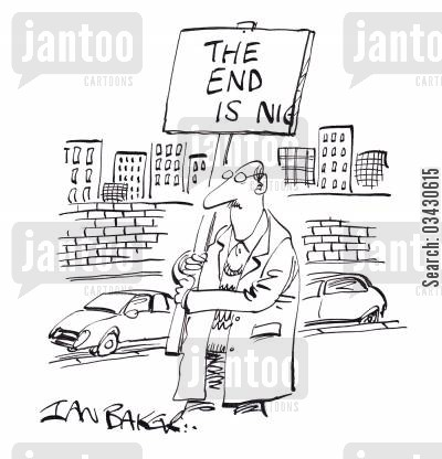 rapture cartoon humor: The end is nig....