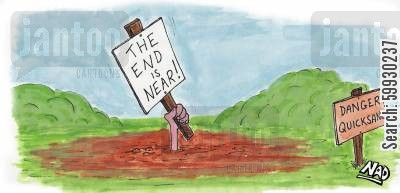 rapture cartoon humor: The End is Near-er than you think.