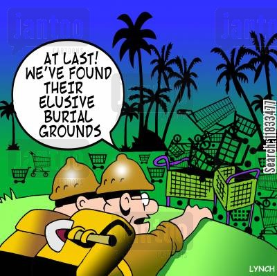burial grounds cartoon humor: At last! We've found their elusive burial grounds!