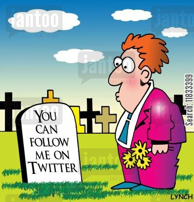 twitter cartoon humor: Follow me on Twitter...