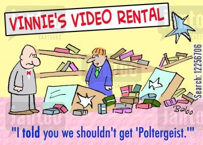 poltergeist cartoon humor: 'I told you we shouldn't get 'Poltergeist.''