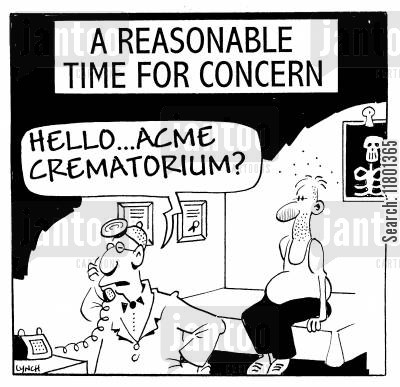 fatal cartoon humor: Hello...Acme Crematorium?