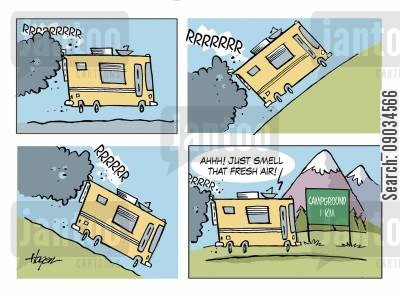 camp grounds cartoon humor: Camping - Fresh Air