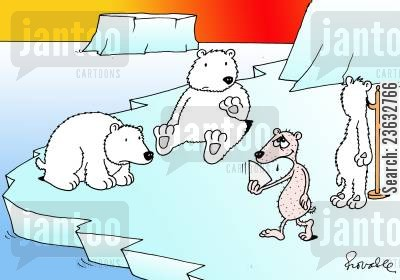 polar ice caps cartoon humor: Global Warming.