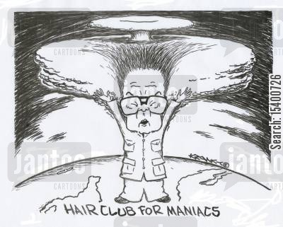 maniacs cartoon humor: 'Hairclub for maniacs.'