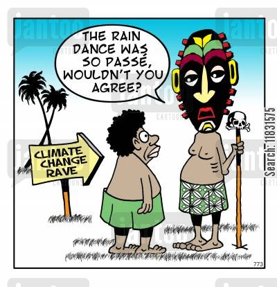 raves cartoon humor: The new rain dance.