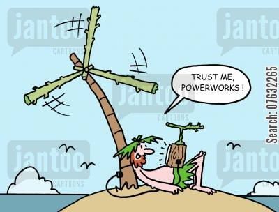 green power cartoon humor: Trust Me, Power Works!