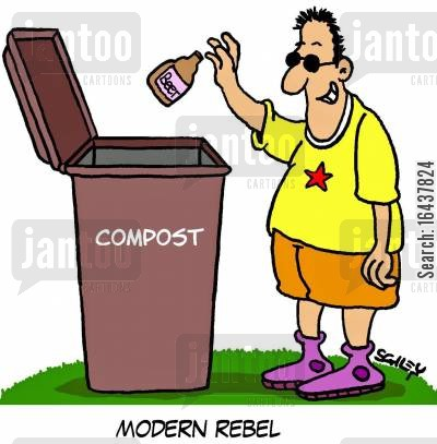 compost bin cartoon humor: Modern Rebel