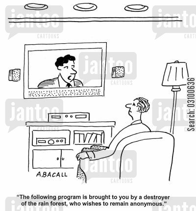 global companies cartoon humor: TV program