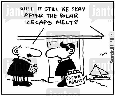 long term investments cartoon humor: 'Will it still be okay after the icecaps melt?'