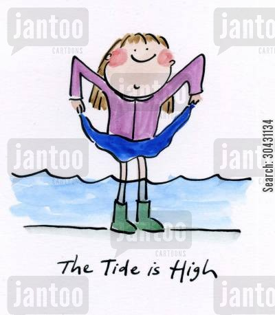 blondie cartoon humor: The tide is high.