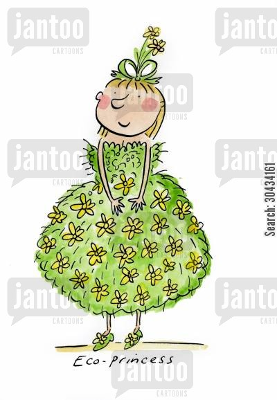henna cartoon humor: Eco Princess