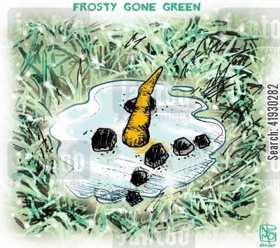 temperature cartoon humor: Green Xmas.