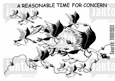 gas mask cartoon humor: A Reasonable Time for Concern