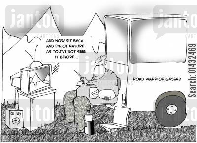norman cartoon humor: And now sit back and enjoy nature as you've not seen it before...