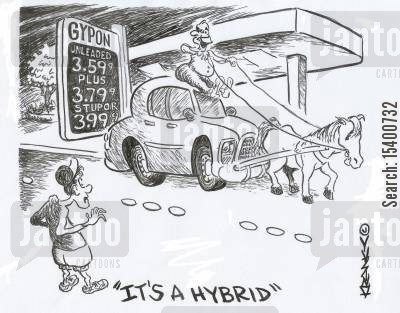 going green cartoon humor: 'It's a hybrid.'