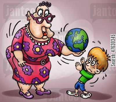 melting ice-caps cartoon humor: Inheriting Planet Earth.