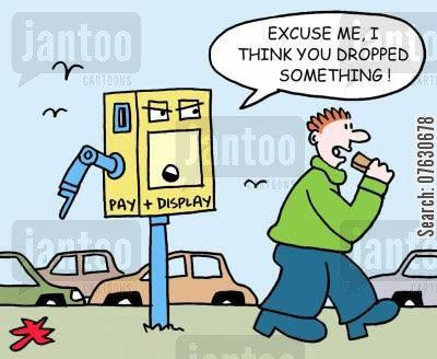 litter bug cartoon humor: Excuse me, I think you dropped something! (Man dropping litter).