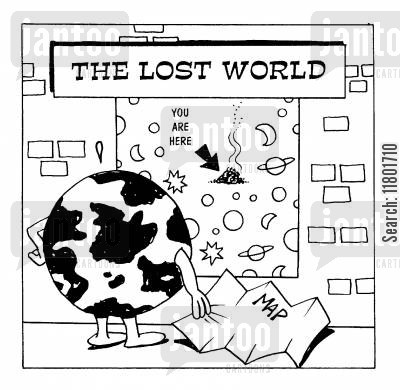 lost world cartoon humor: The Lost World: You are Here