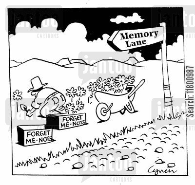 country lanes cartoon humor: Memory Lane