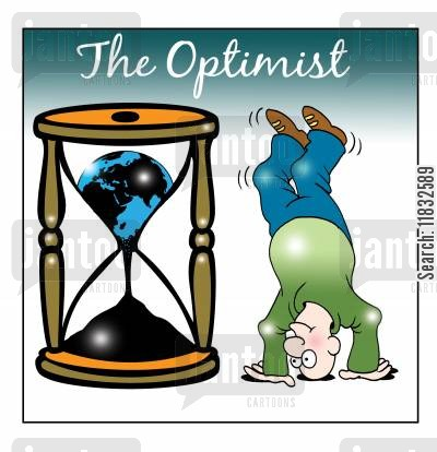 egg timer cartoon humor: The optimist.