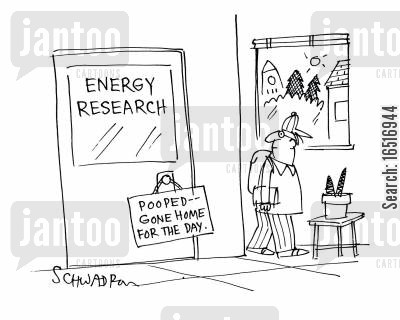 tiredness cartoon humor: Energy Research.