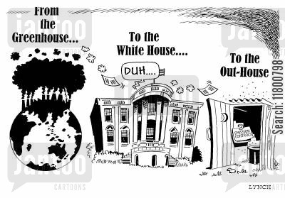 kyoto cartoon humor: From the Greenhouse to the White House....