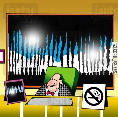 environmental destruction cartoon humor: No smoking.