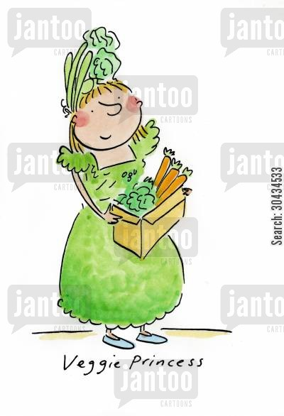 asda cartoon humor: Veggie Princess