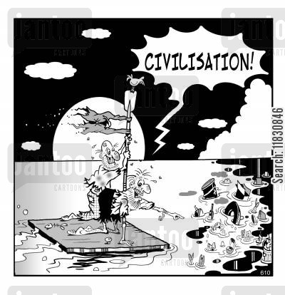 rafts cartoon humor: Civilisation!