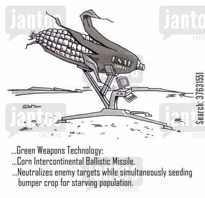 nuclear weapons cartoon humor: Green Weapons Technology,