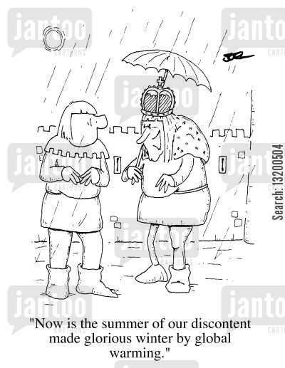 discontent cartoon humor: Now is the summer of our discontent made glorious winter by global warming