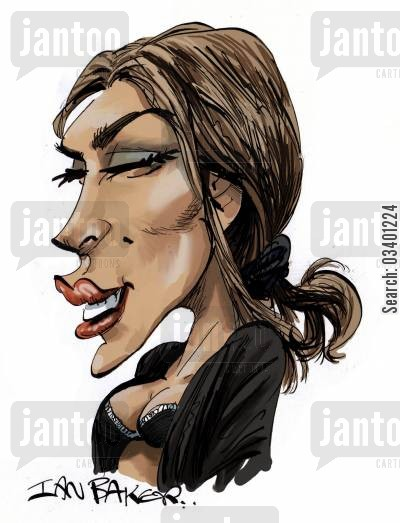 famous actress cartoon humor: Eva Mendez