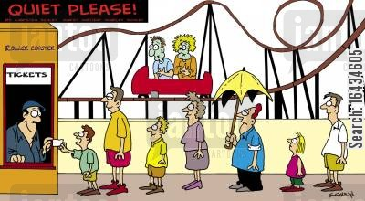 roller coasters cartoon humor: Rollercoaster.