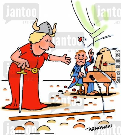 pianists cartoon humor: Pianist being pelted with tomatoes.
