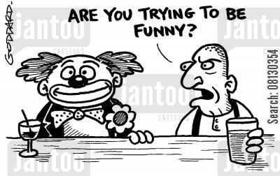 skinheads cartoon humor: 'Are you trying to be funny?'