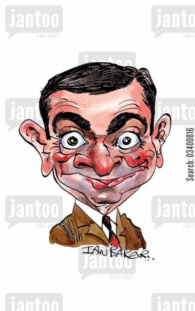 rowan cartoon humor: Rowan Atkinson.