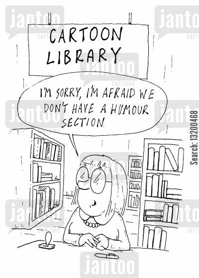 humourless cartoon humor: Cartoon Library