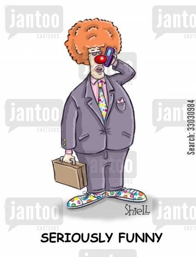 clown nose cartoon humor: Seriously funny.