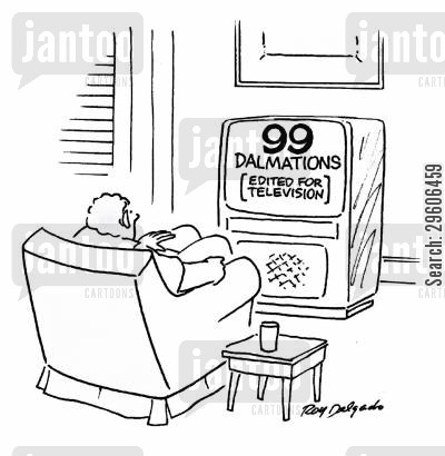 dalmatians cartoon humor: 99 Dalmations - Edited for television.