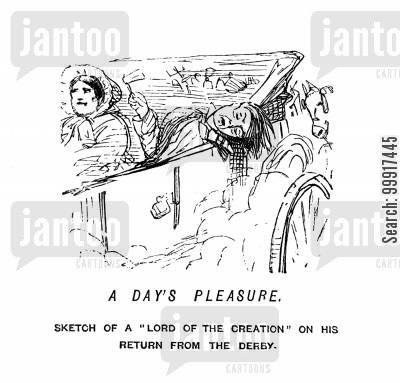 pleasure cartoon humor: A day's pleasure.