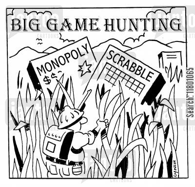 big game cartoon humor: Big Game Hunting
