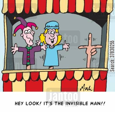 puppets cartoon humor: Look! It's the invisible man!!