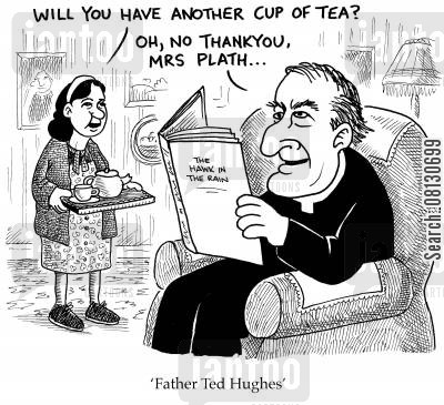 ted hughes cartoon humor: Father Ted Hughes.
