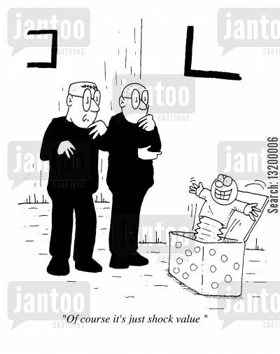 jack in a box cartoon humor: Of course it's just shock value