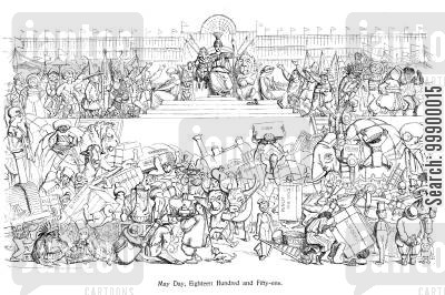 joesph paxton cartoon humor: Great Exhibition 1851, Crystal Palace