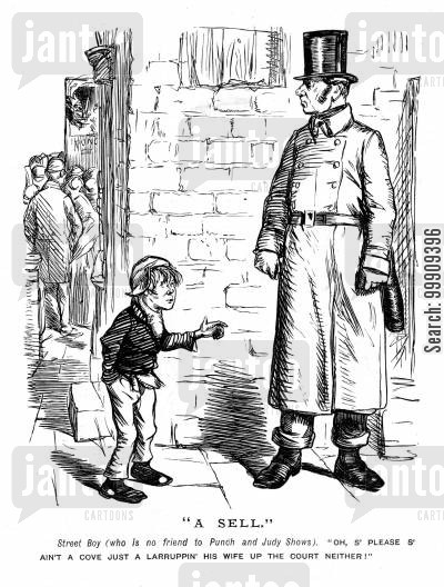 lower classes cartoon humor: A Street Child.